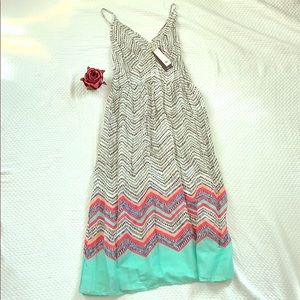 NEW 5th & Love Seafoam Adjustable Strap Sun Dress